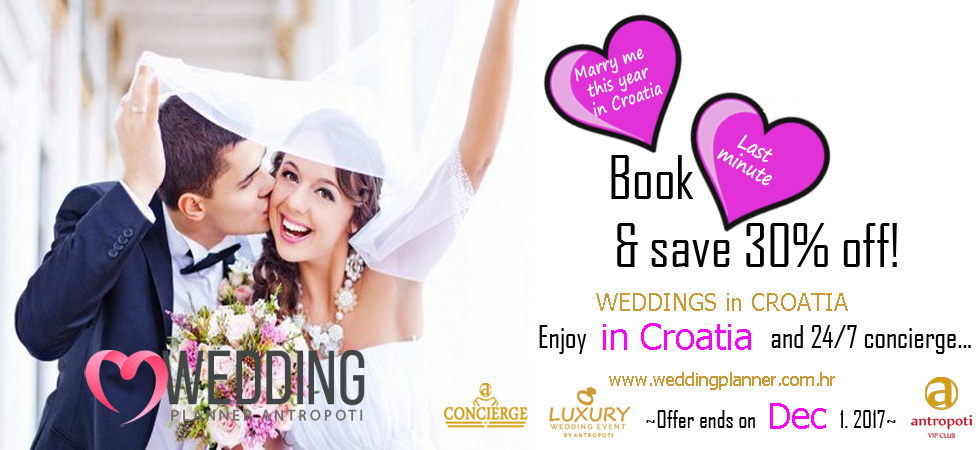 Weddings in Croatia -- Last minute booking 2017 - antropoti