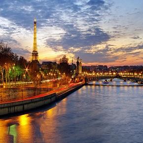 Paris Skyline at Sunset290x290